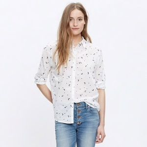 Madewell Button Down Shirt Moon and Stars